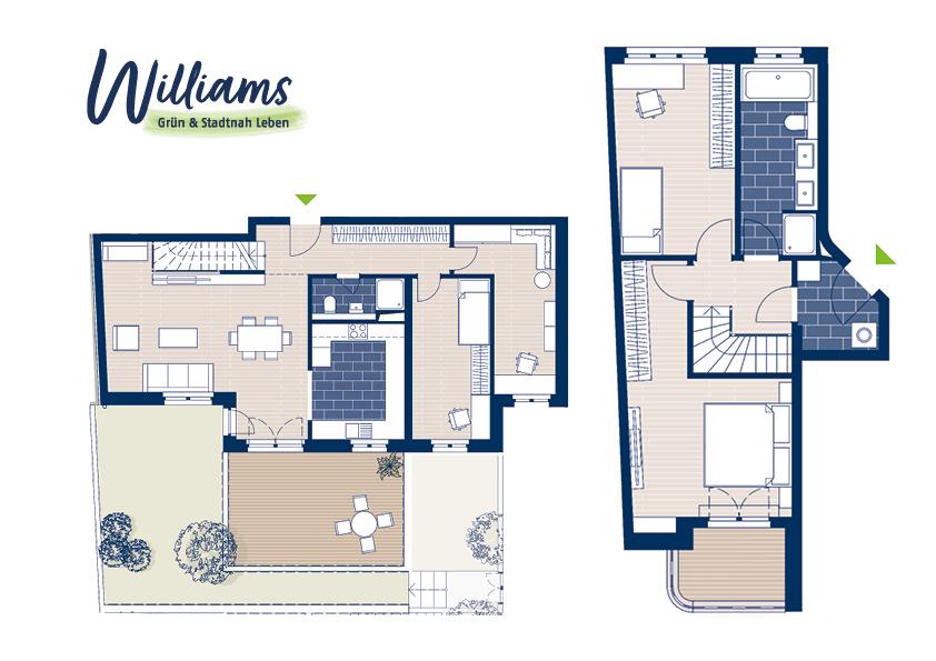 Grundriss Williams - Vorschaubild Wohnung 1
