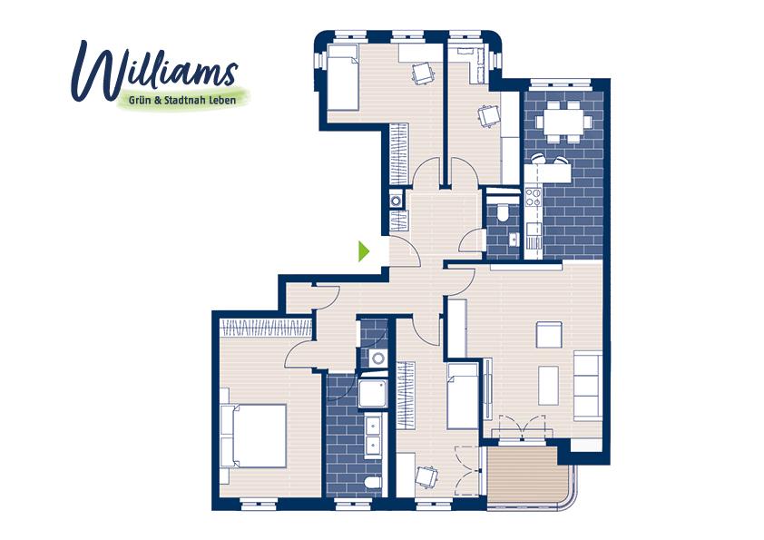 Grundriss Williams - Vorschaubild Wohnung 2