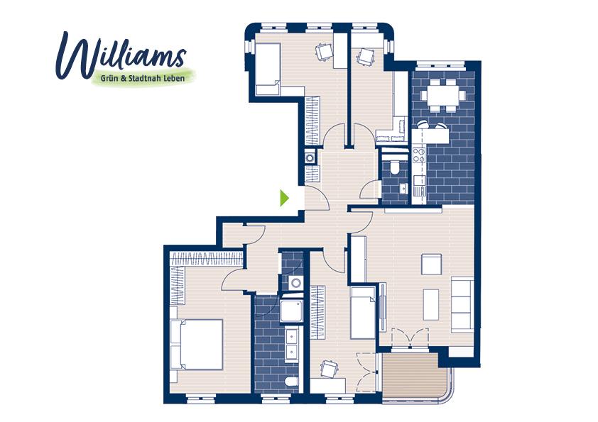 Grundriss Williams - Vorschaubild Wohnung 3