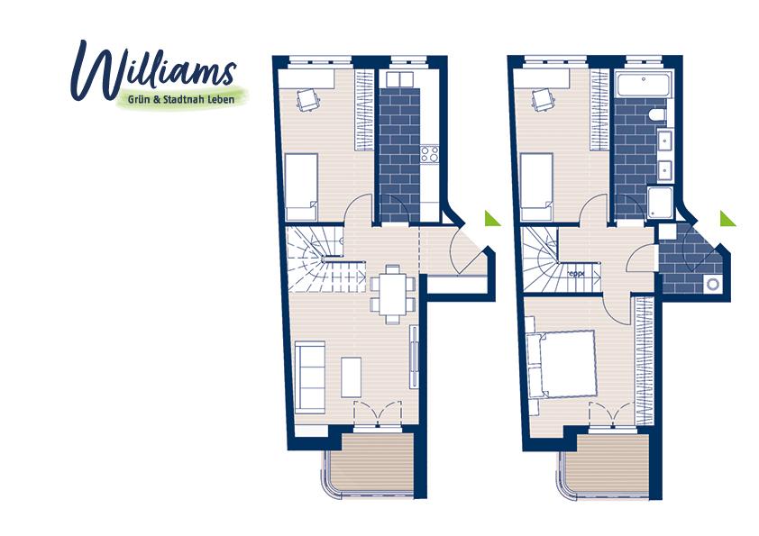 Grundriss Williams - Vorschaubild Wohnung 4