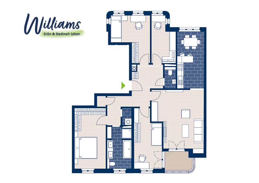 Grundriss Williams - Vorschaubild Wohnung 5