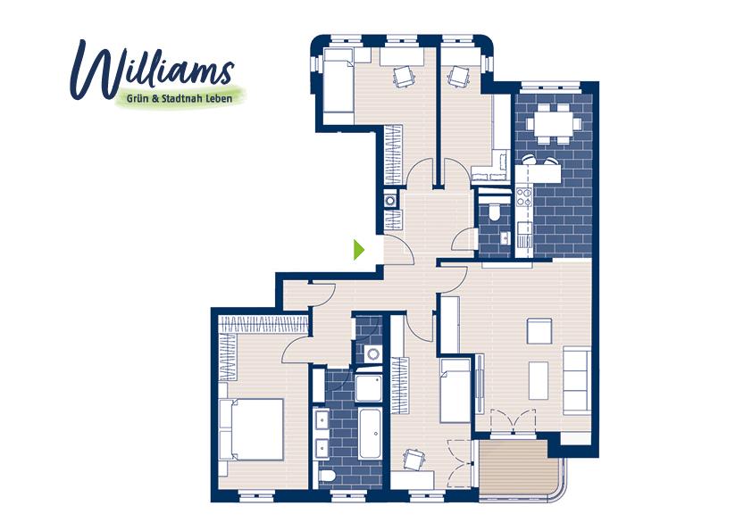 Grundriss Williams - Vorschaubild Wohnung 6
