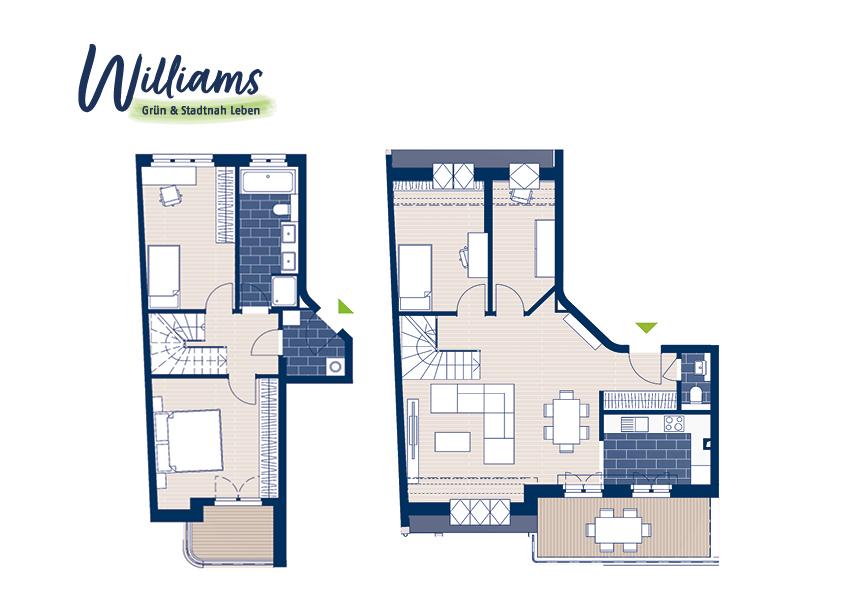 Grundriss Williams - Vorschaubild Wohnung 7