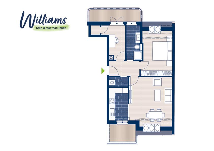 Grundriss Williams - Vorschaubild Wohnung 8