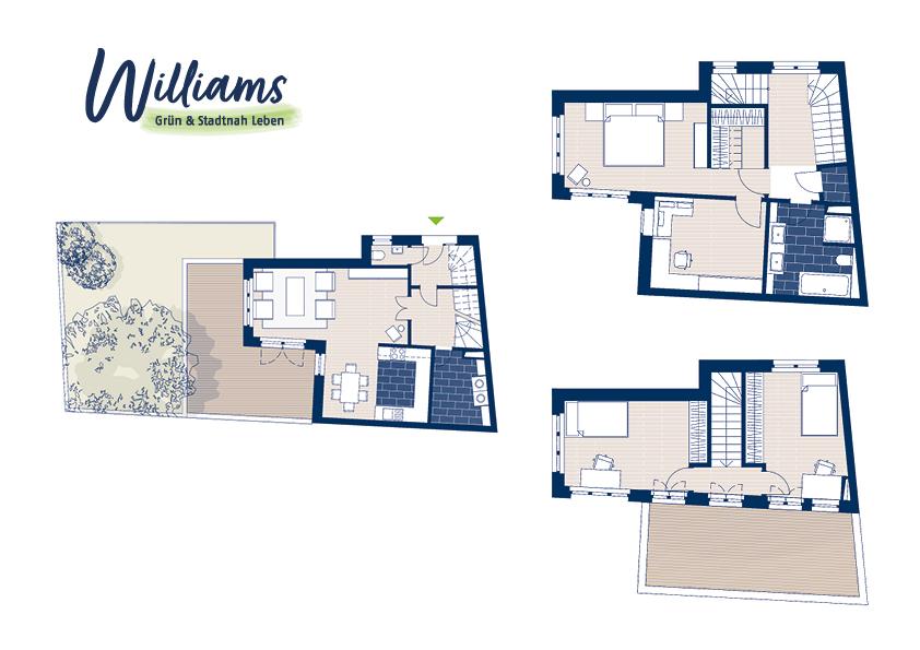 Grundriss Williams - Vorschaubild Wohnung 9